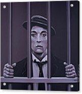 Buster Keaton Painting Acrylic Print