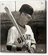 Buster Posey - Quiet Leader Acrylic Print by Darren Kerr