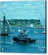 Busy Halifax Harbor During The Parade Of Sails Acrylic Print