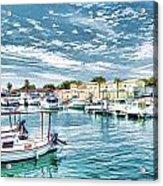 Busy Marina Acrylic Print