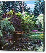 Butchart Gardens Is A Group Of Floral Display Brentwood Bay Acrylic Print