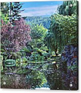 Butchart Gardens Is A Group Of Floral Display Gardens British Columbia Canada 3 Acrylic Print