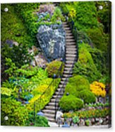 Butchart Gardens Stairs Acrylic Print