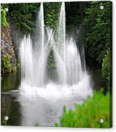 Butchart Gardens Waterfalls Acrylic Print