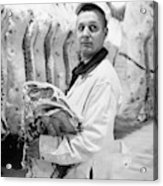 Butcher, 1949 Acrylic Print