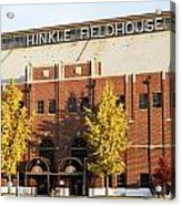 Butler Bulldogs Hinkle Fieldhouse In The Fall Acrylic Print