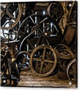 Butte Creek Mill Interior Scene Acrylic Print