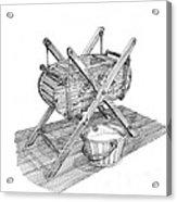 Butter Churn Circa 1822 Acrylic Print
