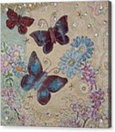 Butterflies Acrylic Print by Hazel Millington