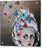 Butterflies In The Thoughts Acrylic Print