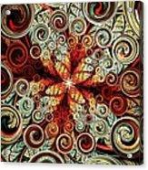 Butterfly And Bubbles Acrylic Print by Anastasiya Malakhova