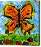 Butterfly And Dragonfly Acrylic Print