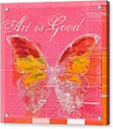 Butterfly Art - P11aig13a_ Art Is Good Acrylic Print by Variance Collections