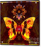 Butterfly By Design Abstract Symbols Artwork Acrylic Print