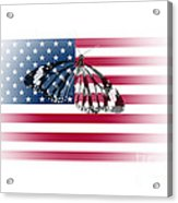 Butterfly Embedded With Usa National Flag Acrylic Print