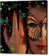 Butterfly Girl Acrylic Print