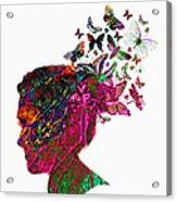 Butterfly Hair Acrylic Print