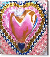 Butterfly-heart Detail Acrylic Print