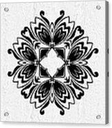 Butterfly Mandala Acrylic Print