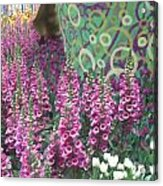 Butterfly Park Flowers Painted Wall Las Vegas Acrylic Print