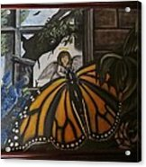 Butterfly Reflections Acrylic Print by Diane Mitchell