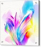 Butterfly Sound Abstract Acrylic Print