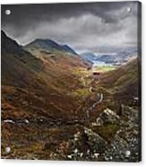 Buttermere Valley Autumn View Acrylic Print