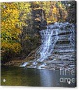 Buttermilk Falls Autumn Acrylic Print