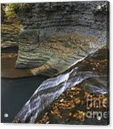 Buttermilk Falls In Autumn I Acrylic Print