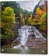 Buttermilk Falls Acrylic Print by Mark Papke