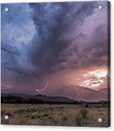 Buttermilks Lightning Strike Acrylic Print
