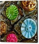 Button Biographies Acrylic Print