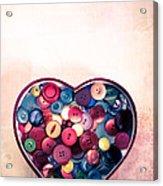 Button Love Acrylic Print