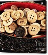 Button Treasures Acrylic Print
