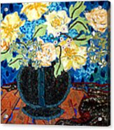 Button Up Vase Acrylic Print by Diane Fine
