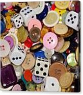 Buttons 674 Acrylic Print