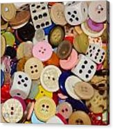 Buttons 676 Acrylic Print