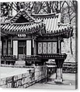 Buyongjeong Pavilion In Secret Garden Acrylic Print