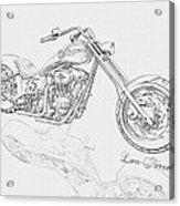 Bw Gator Motorcycle Acrylic Print by Louis Ferreira