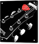 Bw Head Stock With Red Pick  Acrylic Print