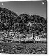 Bw Ketchikan Waterfront Acrylic Print