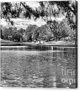 Bw Lake Views  Acrylic Print by Chuck Kuhn