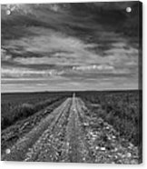 Bxw Gravel Vanishing Point Acrylic Print