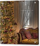 By The Christmas Tree Acrylic Print