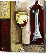 By The Fireside Original Madart Painting Acrylic Print