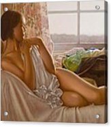 By The Window Acrylic Print by John Silver
