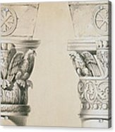 Byzantine Capitals From Columns In The Nave Of The Church Of St Demetrius In Thessalonica Acrylic Print