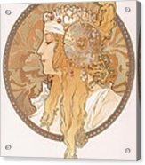 Byzantine Head Of A Blond Maiden Acrylic Print