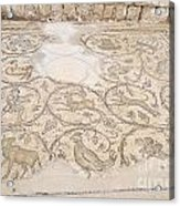 Byzantine Mosaic Depicting Animals And Hunting Scenes. Acrylic Print