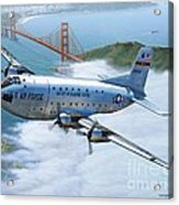 C-124 Shakey Over The Golden Gate Acrylic Print